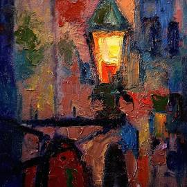 R W Goetting - Streetlamp in Monemvasia