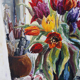 Barbara Pommerenke - Studio Corner With Tulips