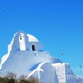 Cimorene Photography - Stunning Greek Orthodox church on the island of Mykonos Greece