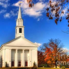 Joann Vitali - Sturbridge Church in Autumn