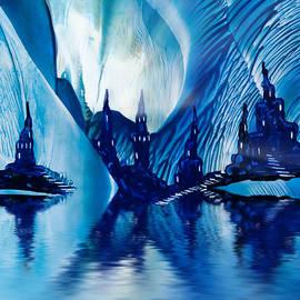 Simon Bratt Photography LRPS - Subterranean Castles wax painting in blue