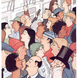 Subway Riders All Resemble Eustace Tilley by R Sikoryak