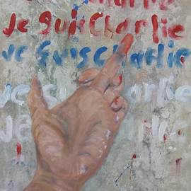 Je Suis Charlie Finger painting to Al Qaeda by Michael Dillon