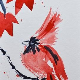 Sumi-e Cardinal by Beverley Harper Tinsley