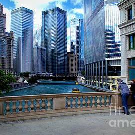 Summer Breeze on the Chicago River - Color by Frank J Casella