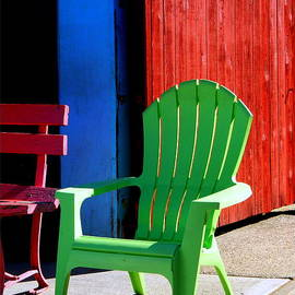 Kathy Barney - Summer Chairs in the Fading Sun