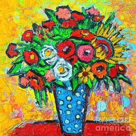 Ana Maria Edulescu - Summer Floral Bouquet - Sunflowers Poppies And Roses