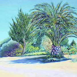 Asha Carolyn Young - Summer Palm Tree in Garden by the Sea