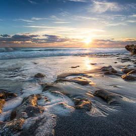 Sun Rays on the Ocean by Debra and Dave Vanderlaan
