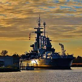 Cynthia Guinn - Sun Reflecting on Battleship