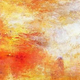 Sun Setting Over A Lake by William Turner