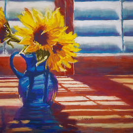 Sunflowers Backlight by Becky Chappell