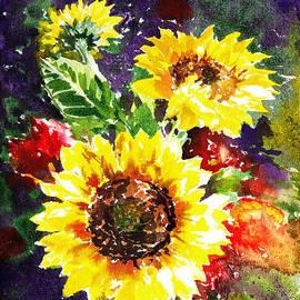 Sunflowers Impressionism by Irina Sztukowski
