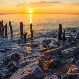 Sunrise 10-20-13 Lake Michigan by Michael  Bennett