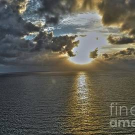 Sunrise above Fort Lauderdale Beach Florida by Timothy Lowry