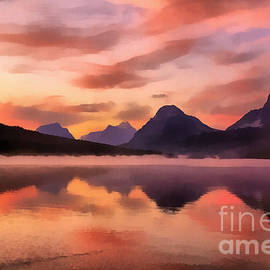 Teresa Zieba - Sunrise at Bow Lake