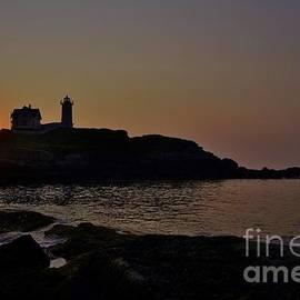 Sunrise at Nubble Lighthouse by Joy Bradley