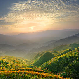 Afrison Ma - Sunrise at Terrace in Guangxi China 5
