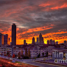 Sunrise Atlantic Station Midtown Atlanta by Reid Callaway