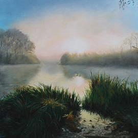 Sue Birkenshaw - Sunrise on the Lake