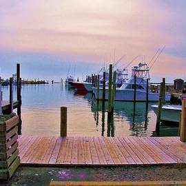 Chuck  Hicks - Sunrise Over Fishing Fleet