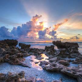 Sunrise Tidal Pools by Debra and Dave Vanderlaan