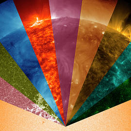 Sun's Surface At Different Wavelengths by Nasa Goddard Space Flight Center