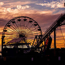 Jerry Cowart - Sunset Amusement Park Farris Wheel On The Pier Fine Art Photography Print