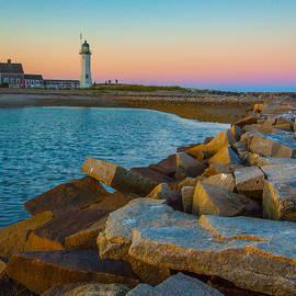 Sunset At Old Scituate Lighthouse by Brian MacLean