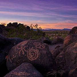 Sunset at Painted Rock  by Saija  Lehtonen