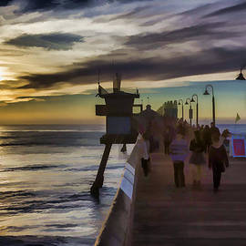 Sunset At The Pier by Photographic Art by Russel Ray Photos