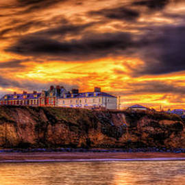 Sunset at the Seaham Beach.