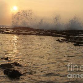 Sunset Hookipa Beach - Pailolo Channel - Maui North Shore Hawaii by Sharon Mau