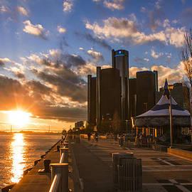 Sunset In Detroit  by John McGraw