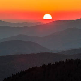 Sunset In The Great Smoky Mountains by Pierre Leclerc Photography