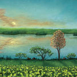 Michael Heikkinen - Sunset Lake Triptych
