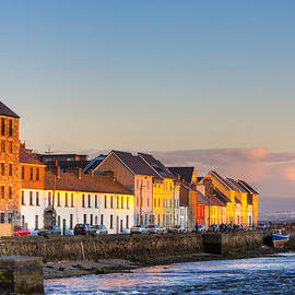 Sunset On A Beautiful Winter Day In Galway Ireland by Mark E Tisdale
