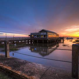 Sunset on Jekyll Island by Debra and Dave Vanderlaan