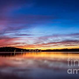 Sunset on Lake Sidney Lanier by Bernd Laeschke
