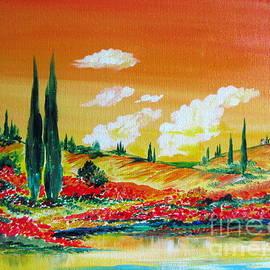 Roberto Gagliardi - Sunset on the farm by the lake