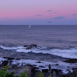 Chris Whiton - Sunset on the Marginal Way in Ogunquit Maine