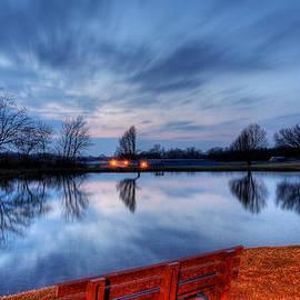 David Dufresne - Sunset on the Pond