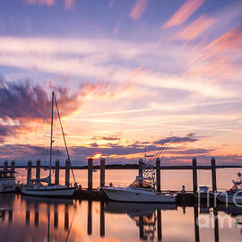Sunset on the River Fernandina Beach Florida by Dawna Moore Photography