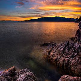 Alexis Birkill - Sunset over Bowen Island