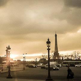 Sunset Over Paris by Steven  Taylor