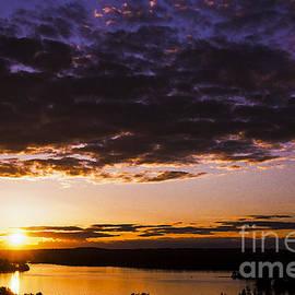 Sunset Over Shagawa Lake by Thomas R Fletcher