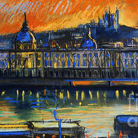 Mona Edulesco - Sunset Over The City - Lyon France