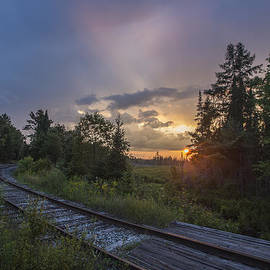 Sunset over the Railroad Tracks by Chris Whiton
