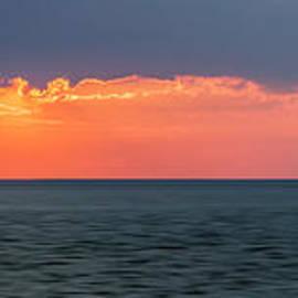Sunset Panorama Over Ocean by Elena Elisseeva