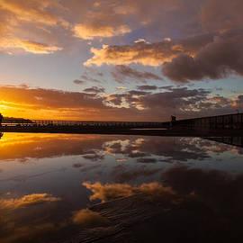 Sunset Pier Pool by Mike Reid